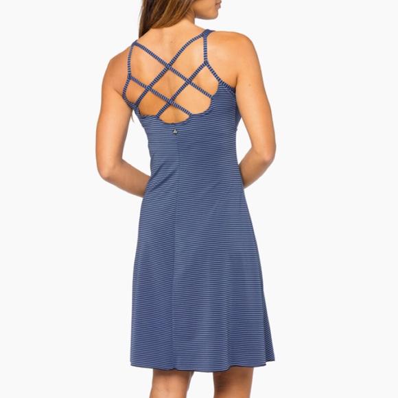 6f0006fcd19 PRANA Rebecca Dress Blue XS NWOT  80 Retail. M 5a577c0b72ea88aa070132bc